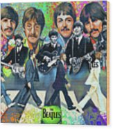 Beatles Fan Art Wood Print
