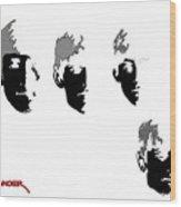 Beatles Meet The Negative Wood Print