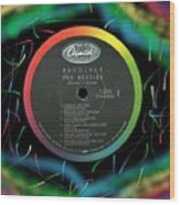 Beatles Revolver Rainbow Lp Label Wood Print