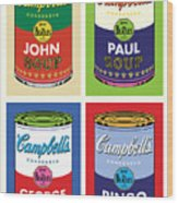 Beatles Soup Wood Print
