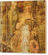 Beatrice And Benedick Wood Print