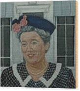Beatrice Taylor As Aunt Bee Wood Print
