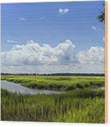 Beaufort Intracoastal Waterway Wood Print