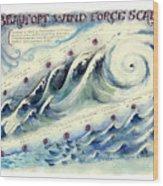 Beaufort Wind Force Scale Wood Print