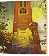 Beaumont Tower  Wood Print by Paul Bartoszek