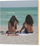 Beauties On The Beach Wood Print