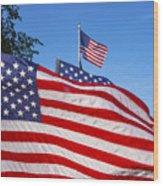 Beautiful American Flags Wood Print