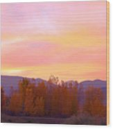 Beautiful Autumn Sunset Wood Print
