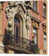 Beautiful Balcony In Austria Wood Print