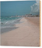 Beautiful Beach In Cancun, Mexico Wood Print