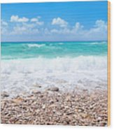 Beautiful Beach Panoramic Landscape Wood Print