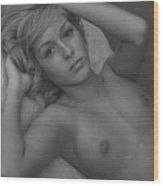 Beautiful Blonde Wood Print