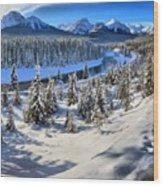 Beautiful Bow Valley Wood Print