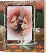 Beautiful Bridal Couple In Love Wood Print
