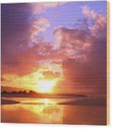 Beautiful Bright Sunset Wood Print