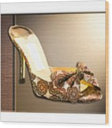 Beautiful Brocade Slippers For A Ball Wood Print