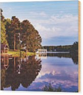 Beautiful Bunn Lake - Zebulon, North Carolina Wood Print