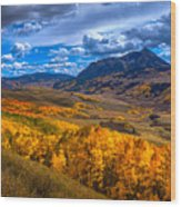 Beautiful Butte Wood Print