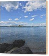 Beautiful Calm Ocean Water's In Casco Bay Maine Wood Print