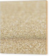 Beautiful Champagne Gold Glitter Sparkles Wood Print