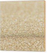 Beautiful Champagne Gold Glitter Sparkles Wood Print