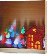 Beautiful Christmas Decor Wood Print