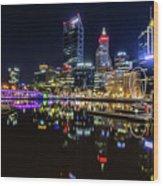 Beautiful Cityscape At Perth's Elizabeth Quay  Wood Print
