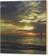 Beautiful Clearwater Sunset Wood Print