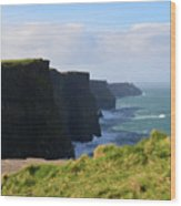 Beautiful Cliff's Of Moher In Liscannor Ireland Wood Print
