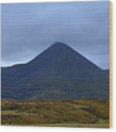 Beautiful Countryside In Cuillen Hills With A Large Mountain  Wood Print