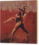 Beautiful Couple Dance 02 Wood Print