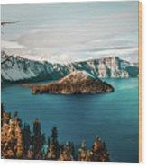 Beautiful Crater Lake Wood Print