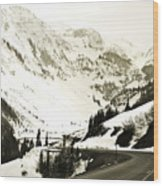 Beautiful Curving Drive Through The Mountains Wood Print