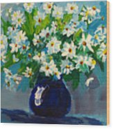 Beautiful Daisies  Wood Print by Patricia Awapara