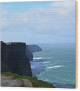 Beautiful Day At The Cliff's Of Moher In Ireland Wood Print