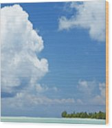 Beautiful Day In Tahiti Wood Print