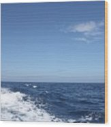 Beautiful Day On The Atlantic Ocean Wood Print