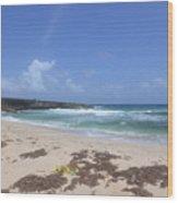 Beautiful Deserted Boca Keto Beach In Aruba Wood Print