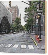 Beautiful Downtown Hoboken  Wood Print