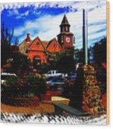 Beautiful Downtown Solvang Wood Print