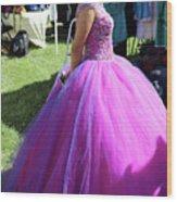 Beautiful Dress Make Up Dad Of Dead  Wood Print