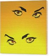 Beautiful Eyes Wood Print