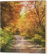 Beautiful Fall Day Wood Print
