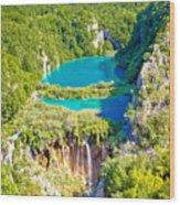 Beautiful Falling Lakes Of Plitvice National Park Wood Print