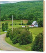 Beautiful Farm In Windsor Forks Wood Print