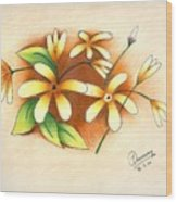 Beautiful Flowers Wood Print by Tanmay Singh