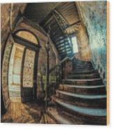 Beautiful Forgotten Staircase Wood Print