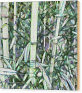 Beautiful Green Leaf Bamboo Wood Print