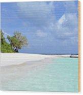 Beautiful Island From Maldives Wood Print