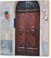 Viaje Beautiful Italian Door Volterre  Wood Print